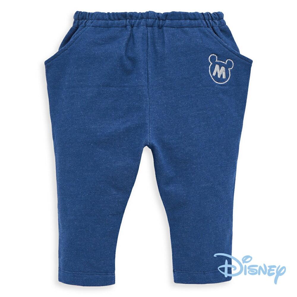 Disney俏皮米奇哈倫棉褲-牛仔藍