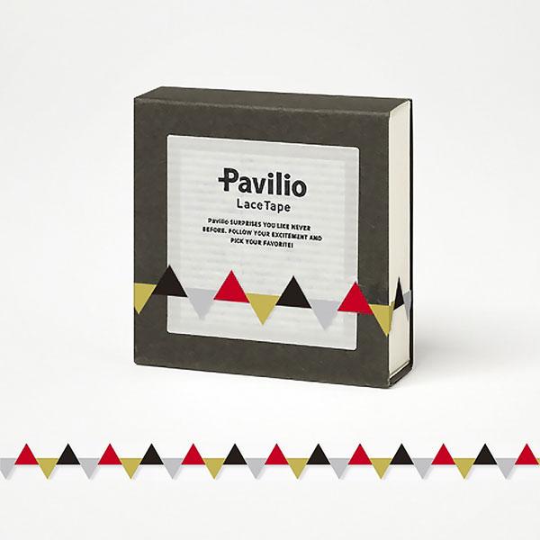 【日本Pavilio】風格膠帶MINI系列F-MI09GB三角旗(黑)捲