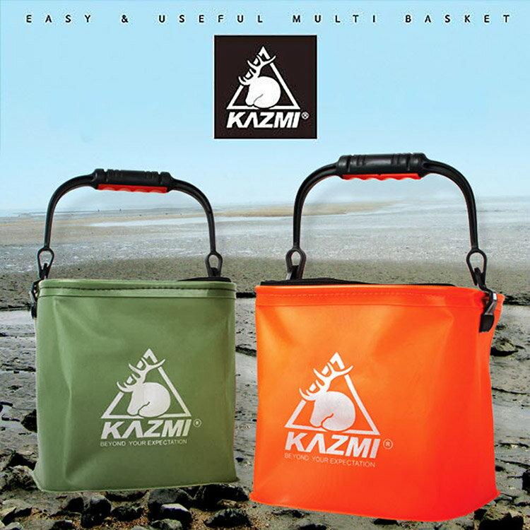 KAZMI 多功能折疊水桶K3T3K026  /  城市綠洲 (水桶、折疊、戶外、露營、野炊、釣魚) 0