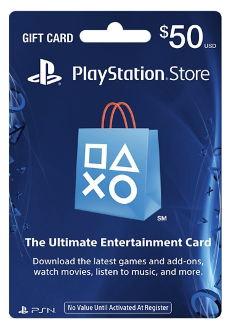$50 PlayStation Store Gift Card (PHYSICAL CARD) 0