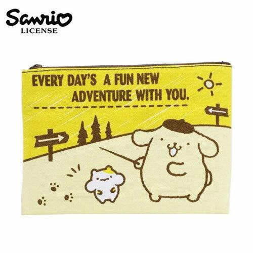 【 】布丁狗 Pom Pom Purin 帆布 扁筆袋 L號 鉛筆盒 筆袋 收納包 三麗鷗 Sanrio - 443887