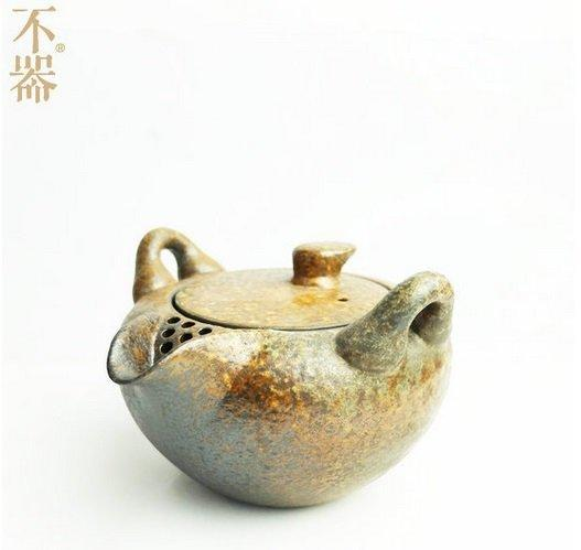 【不器】家 日式粗陶 仿古釉色蓋碗蓋壺茶壺.稻灣與長安(圖一)
