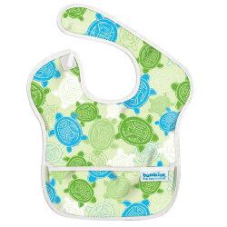 【美國Bumkins】防水兒童圍兜(一般無袖款6個月~2歲適用)-小烏龜 BKS-913【紫貝殼】