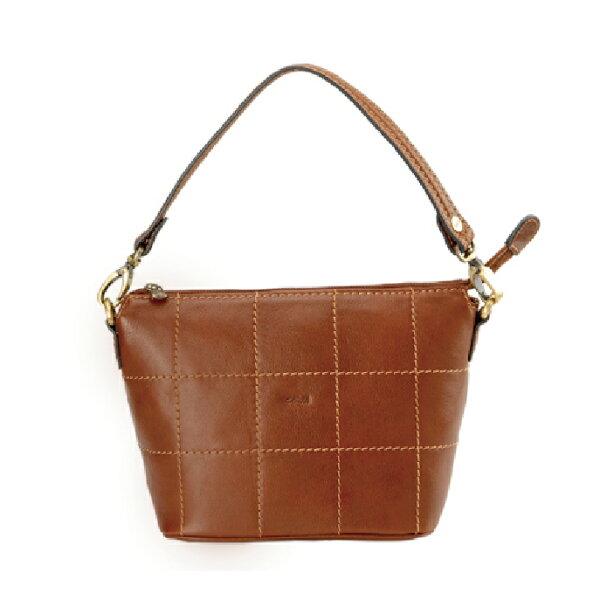 cowa格紋手提包