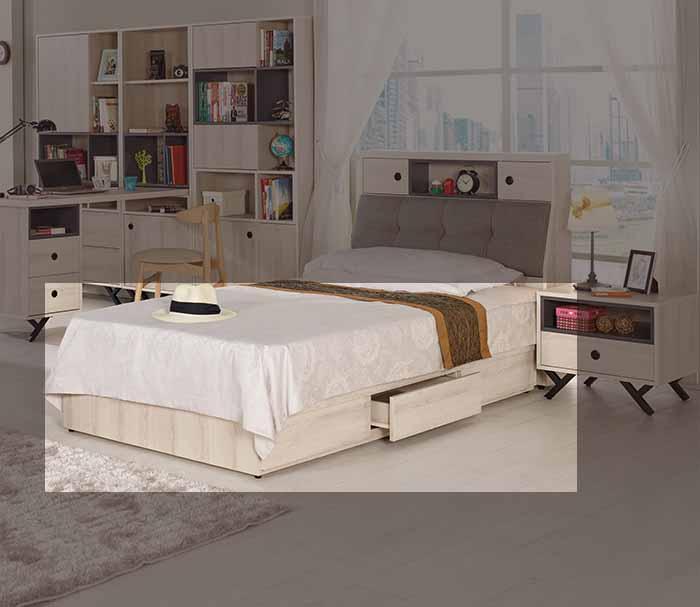 【尚品傢俱】CM-063-3 塔利斯3.5尺抽屜式床底