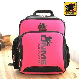 【UNME】台灣製專櫃書包/減壓書包/中高年級適用(粉色3077)【威奇包仔通】
