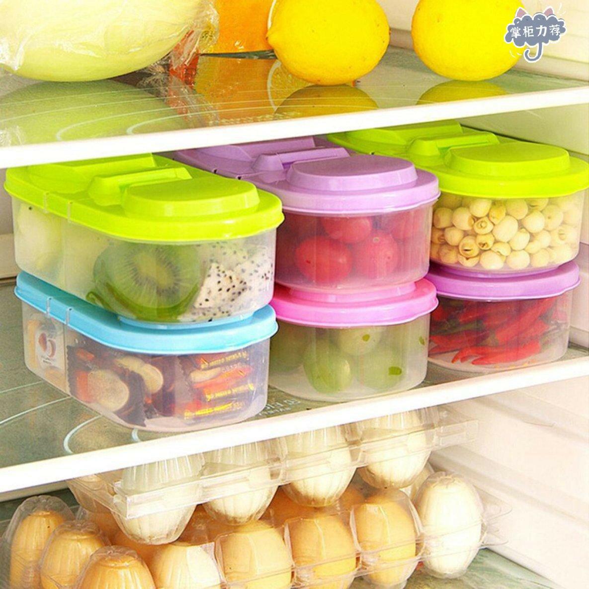 【全館免運】廚房食品雜糧米飯塑料儲物盒箱罐綠色
