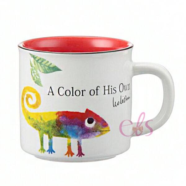 荷蘭繪本作家 LEO LIONNI 馬克杯 自己的顏色 變色龍 白紅色 ☆艾莉莎ELS☆