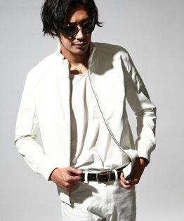 ZIP:皮衣白色