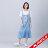 【618購物節】【maru.a】綁帶裝飾魚尾裙襬長洋裝(淺藍) 0