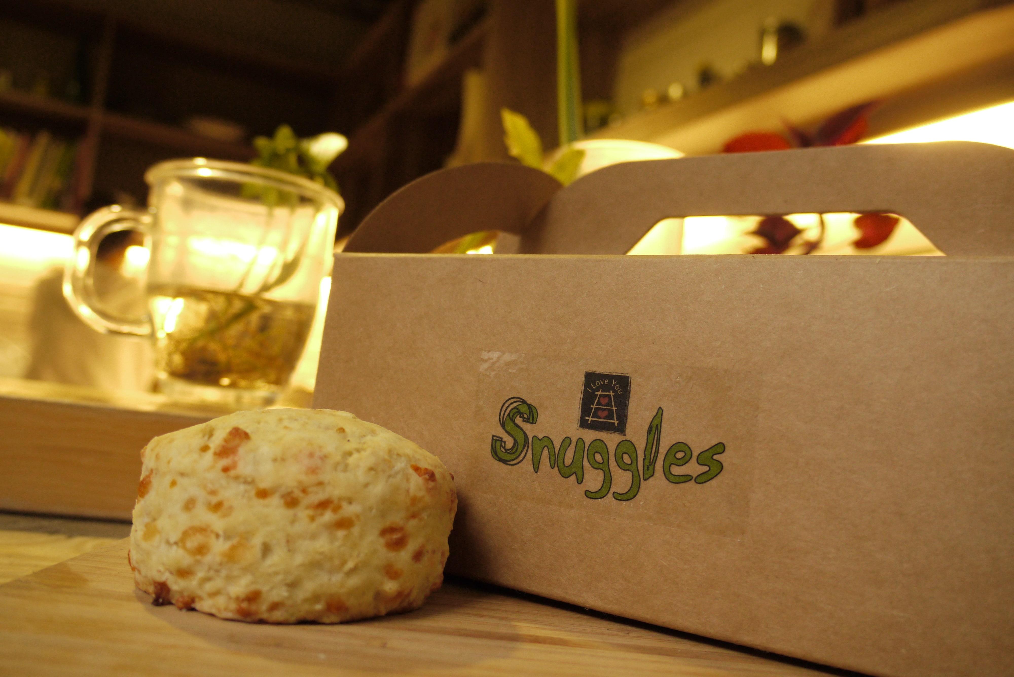 【Snuggles小麥胚芽廚房 】豆漿烤餅- 起士口味(12入盒裝)(SCONE 司康)