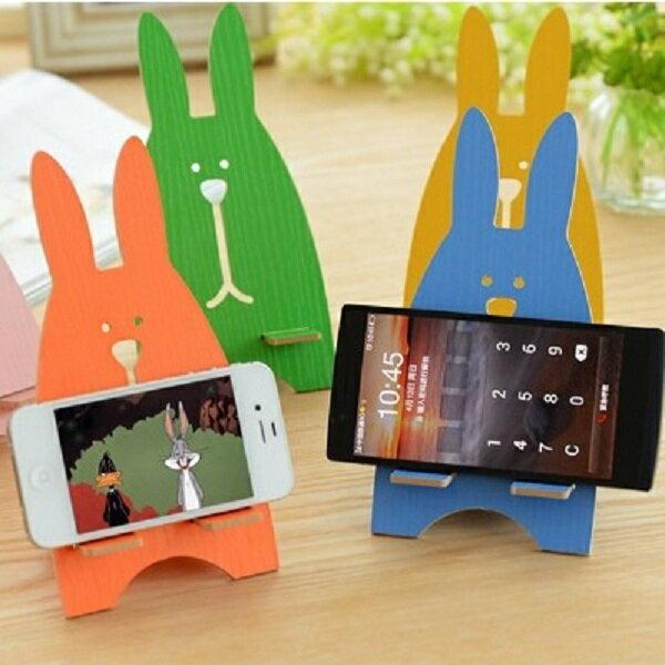 兔子造型 手機支架 支撐架 平板電腦支撐架 懶人架 DIY 手機座 辦公桌收納 療癒小物 【AI311】