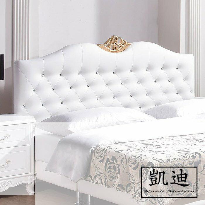 【凱迪家具】Q25-A115-03溫妮莎6尺白色皮床頭片/桃園以北市區滿五千元免運費/可刷卡