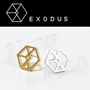 ☆ New Style ☆ EXO Exodus 同款鏤空標誌耳釘耳環 (單支價)