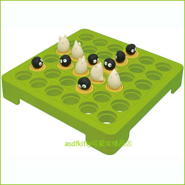 asdfkitty可愛家☆TOTORO小龍貓+煤炭精靈五子棋遊戲盤桌遊-日本正版商品