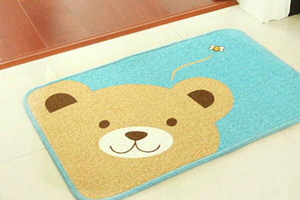 BO雜貨~YV2477~ 可愛小熊腳墊浴室廚房防滑地墊 吸水地墊 門墊 客廳地墊 腳踏墊