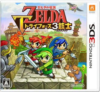 現貨供應中 亞洲日文版 台規主機專用  [輔導級] 3DS 薩爾達傳說 三角神力 3 劍客