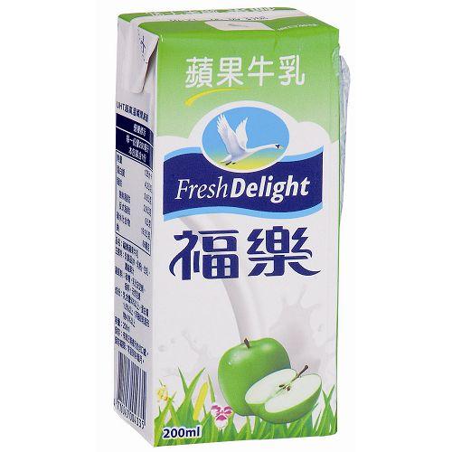 <br/><br/> 福樂蘋果牛奶200ml*6瓶【愛買】<br/><br/>