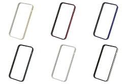 POWER SUPPORT iPhone SE/5/5S 專用 Flat Bumper 邊框殼 金色/銀白/黑/金屬藍/金屬紅/銀黑