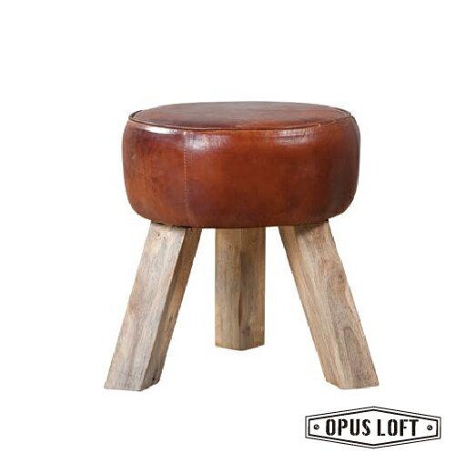 純真年代Opus Loft:復古LOFT工業風原木三腳凳