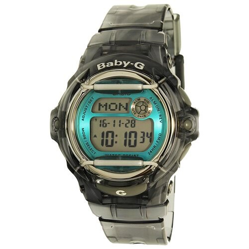 CASIO Men's Resin Case Gray Resin Band Blue Dial Smart Watch - BG169R-8B 0