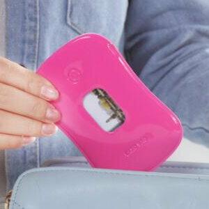 美麗大街【BF074E12E1E863】糖果色PU皮質可視公車卡套雙面卡套銀行卡夾