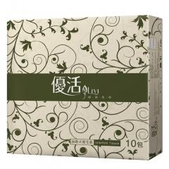 JS巨盛 優活抽取式衛生紙(130抽/ 6包/ 12袋/ 箱)