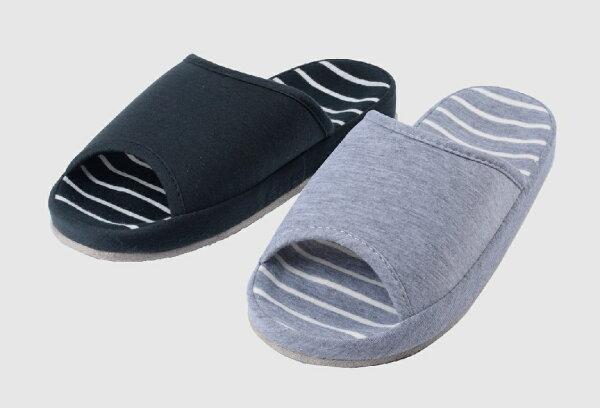 rubber anne:都會風---大底橫紋室內拖鞋