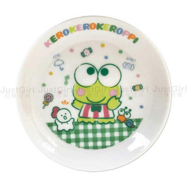 三麗鷗大眼蛙盤子小碟子豆碟小菜盤陶瓷盤圓盤格紋餐具正版日本製造進口JustGirl
