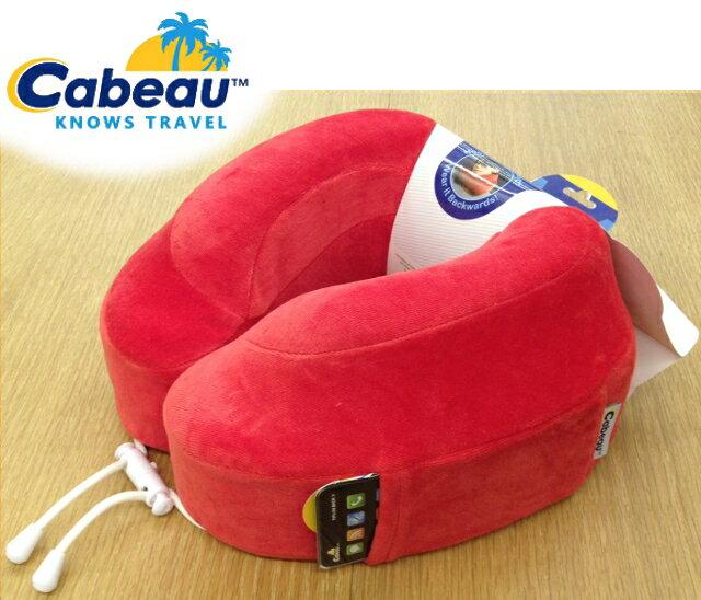 Cabeau 旅行用記憶頸枕/U型枕/旅行/長途/坐車旅遊枕/飛機靠枕/旅行枕/旅行頸枕 枕頭套可拆洗 亮紅