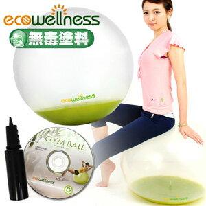 【ecowellness】環保PVC水晶韻律球(附打氣筒)60cm顆粒瑜珈球.健身球.彈力球.抗力球.彼拉提斯球.復健球.體操球.大球操.推薦哪裡買C010-001C