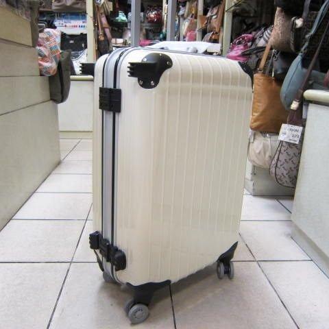 ~雪黛屋~18NINO81美國24吋ABS+PC硬殼拉桿行李箱 8大超大加寬輪設計360度旋轉輪#2568象牙白