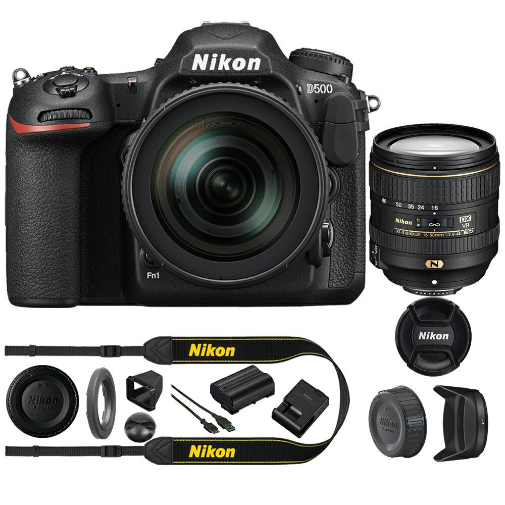 Nikon D500 20.9 MP CMOS DX Format Digital SLR Camera with 16-80mm VR Lens Kit