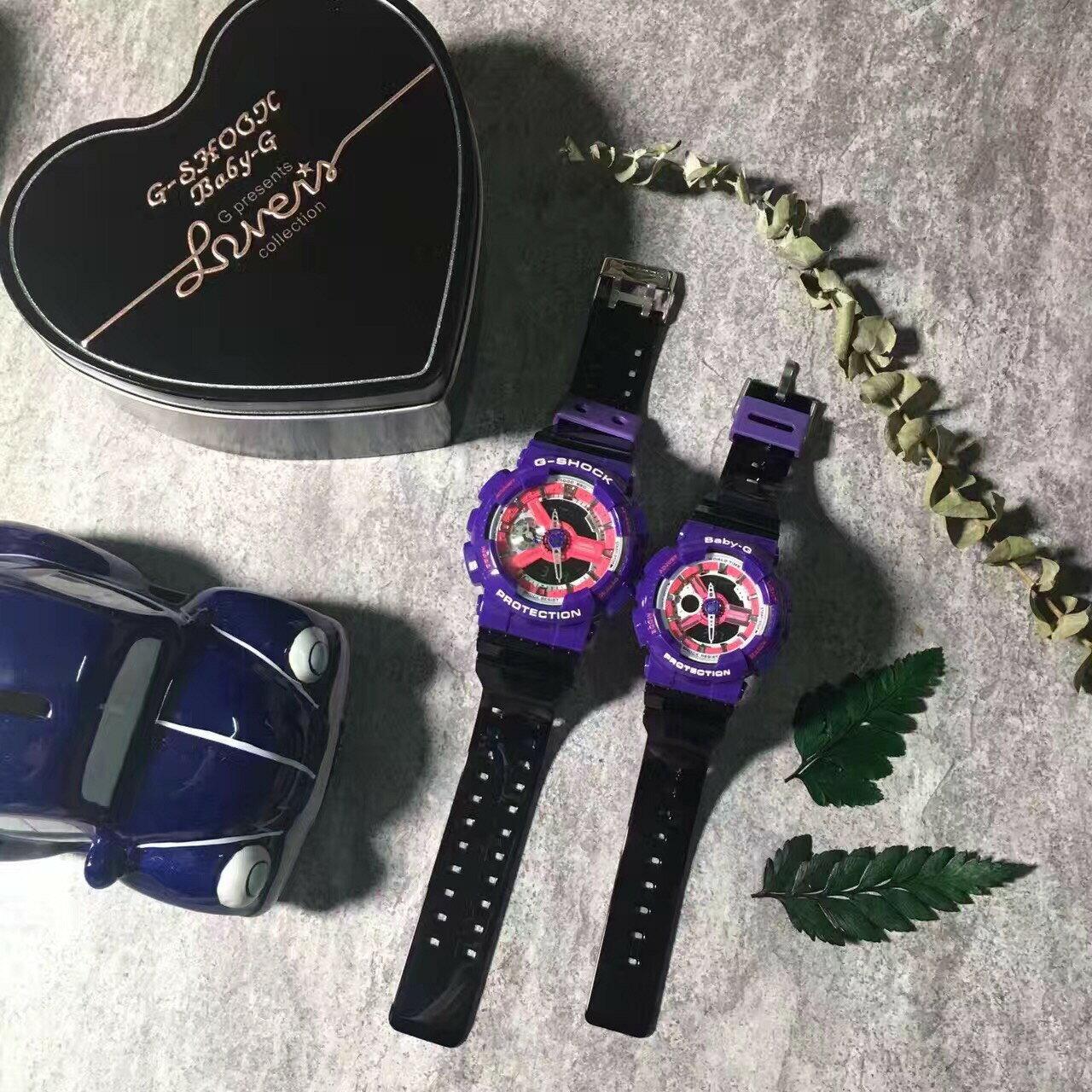 國外代購CASIO G-SHOCK GA110NC & BABY-G BA110NC 情侶對錶 雙顯 防水手錶