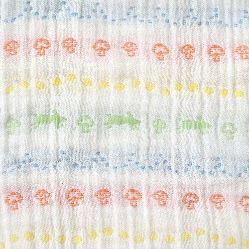 【安琪兒】日本【Hoppetta】彩虹蘑菇四層紗被 3