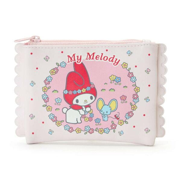 X射線【C950456】美樂蒂Melody面紙化妝包,美妝小物包筆袋面紙包化妝包零錢包收納包皮夾手機袋鑰匙包