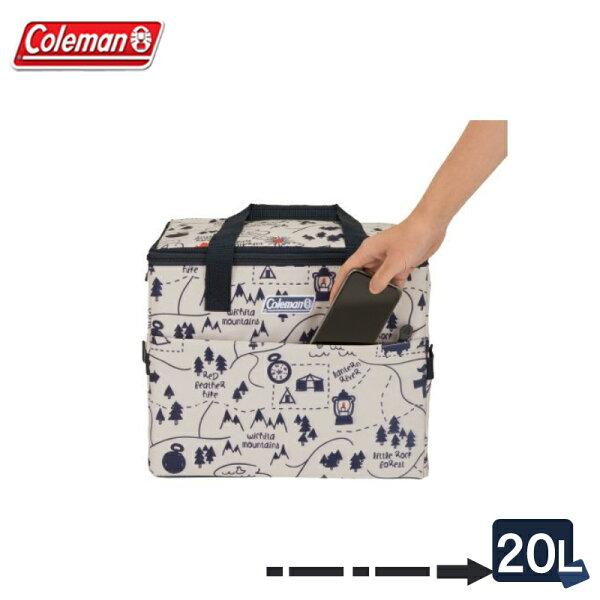 【露營趣】ColemanCM-3343520L露營地圖保冷袋軟式冰箱軟式冰桶保溫袋摺疊冰桶保冰袋保冰桶野餐籃