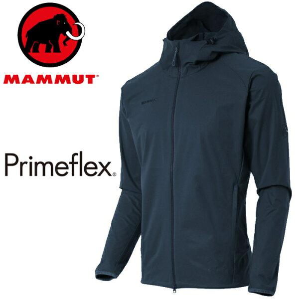 Mammut長毛象軟殼外套薄軟殼衣登山風衣夾克GRANITESOH男款亞版1011-003205118海洋藍