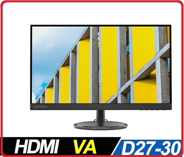 賣電腦 LENOVO ThinkVision D27-30 66B8KAC6TW 27吋VA超值螢幕  FHD解析/ FreeSync/ HDMI/ 3Y