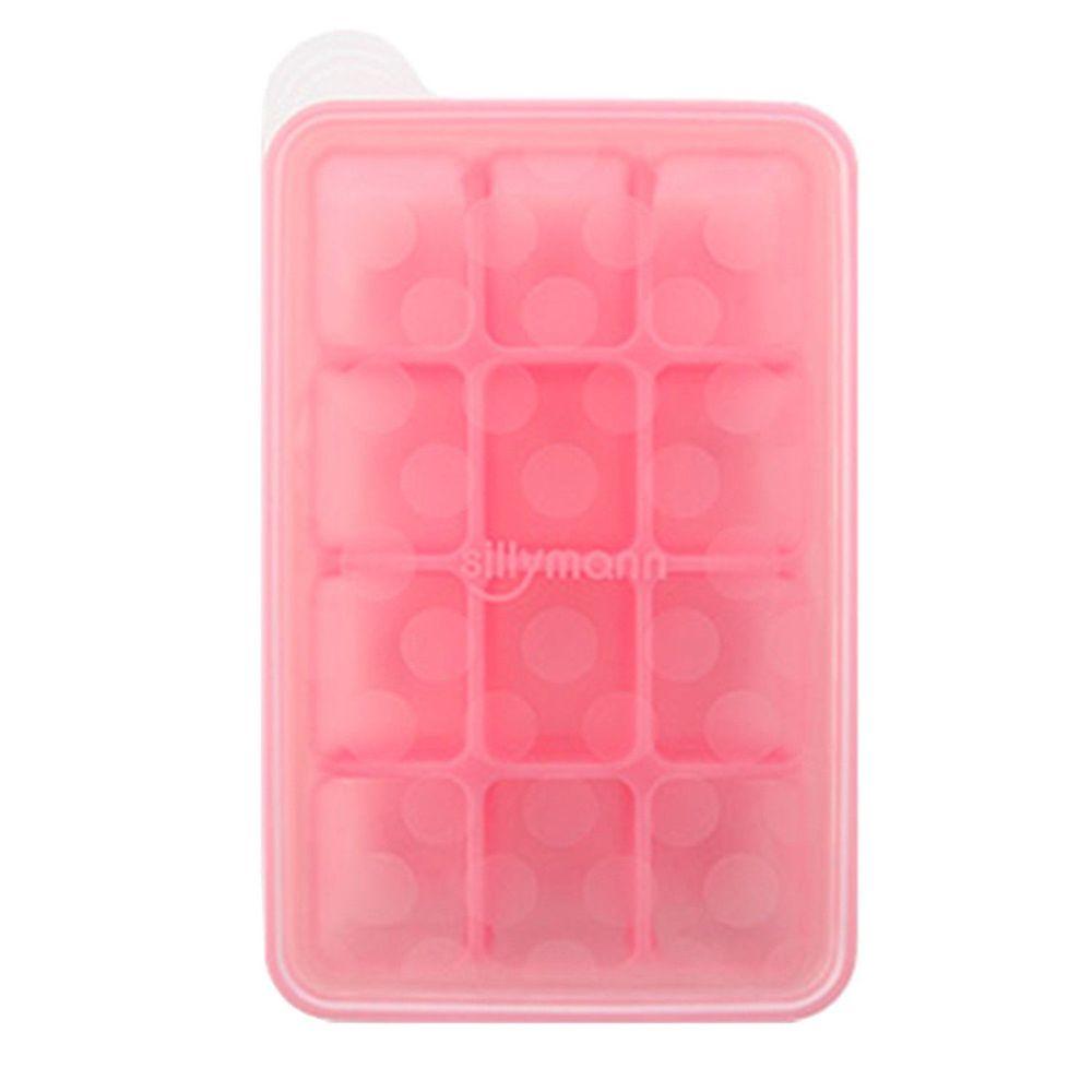 韓國 Sillymann 100%鉑金矽膠副食品分裝盒-12格/6格-紫色/粉紅【保證原廠公司貨】【紫貝殼】