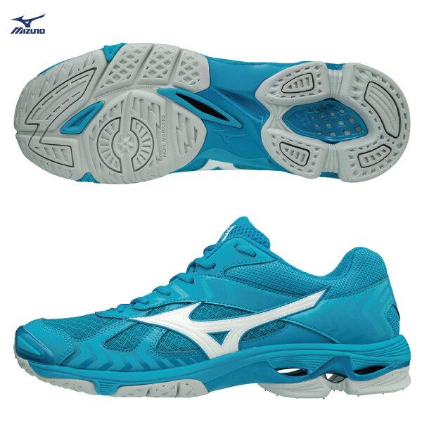V1GA186098〈深丈青X螢光綠)WAVEBOLT7高避震排球鞋【美津濃MIZUNO】