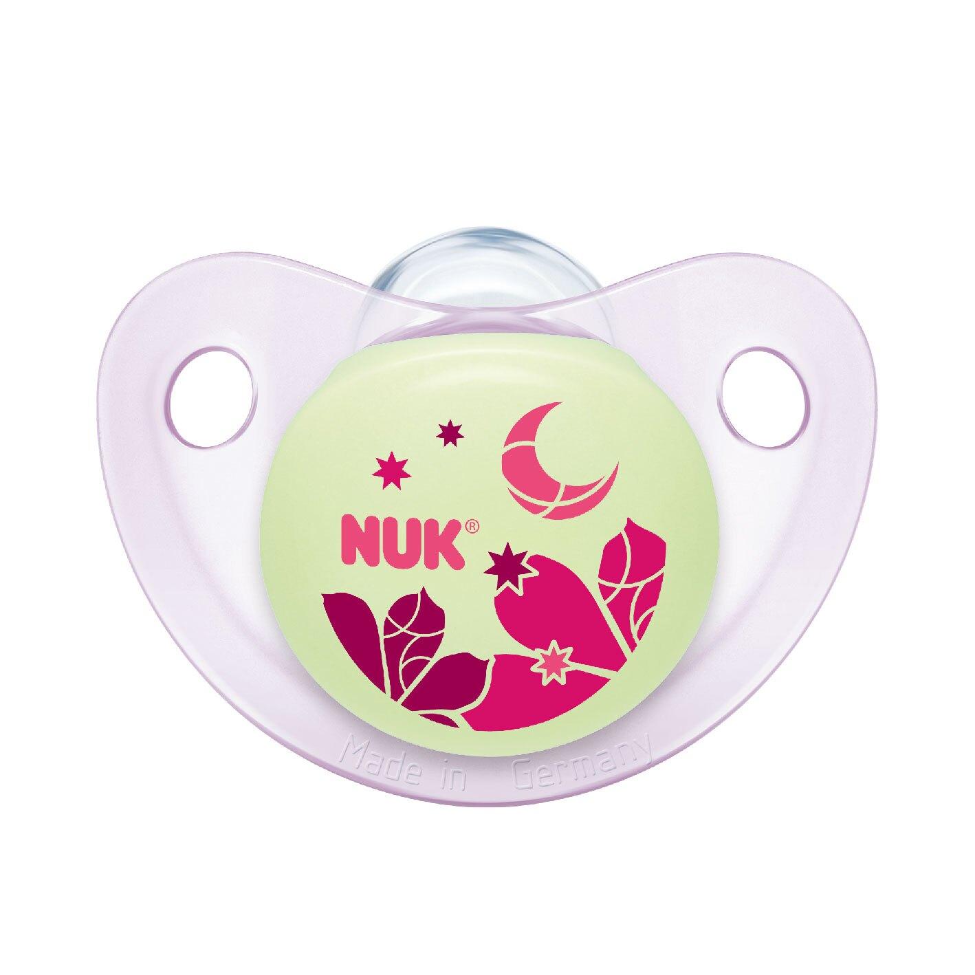 【紫貝殼】德國 NUK 夜光型矽膠安撫奶嘴 2入組