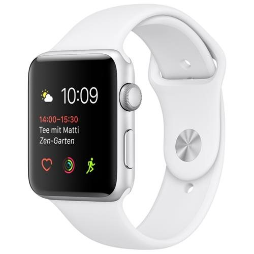 "Apple Watch Series 2 Smart Watch - Wrist - Gyro Sensor, Accelerometer, Ambient Light Sensor, Optical Heart Rate Sensor - Heart RateDual-core (2 Core) - Touchscreen - Bluetooth - Bluetooth 4.0 - Wireless LAN - IEEE 802.11b/g/n - GPS - 18 Hour - 1.67"" - 0.4"