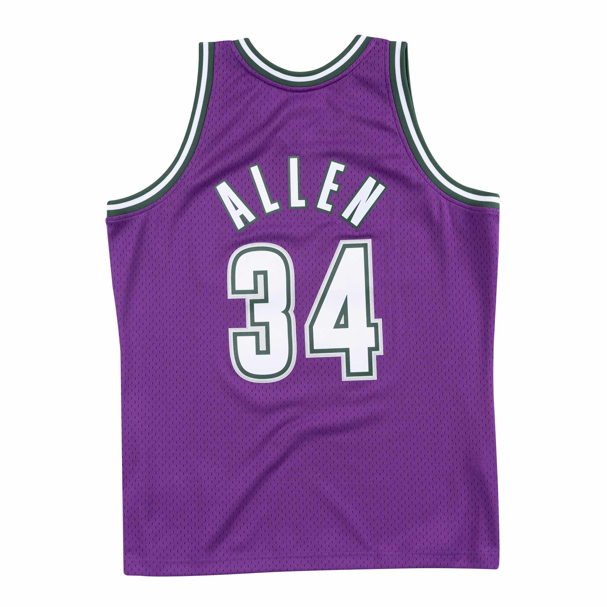 【毒】Mitchell & Ness NBA 球迷版球衣 Ray Allen 00-01 Road 公鹿 紫