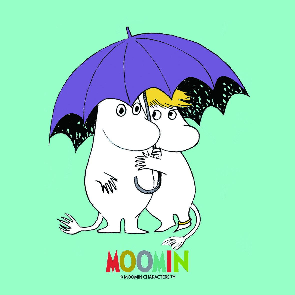 Moomin嚕嚕米授權-吸水杯墊【傘下世界】 ( 圓 / 方 )