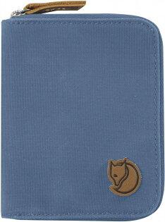 Fjallraven瑞典北極狐皮夾錢包短夾ZipWallet瑞典狐狸復古拉鍊皮夾24216519山脊藍
