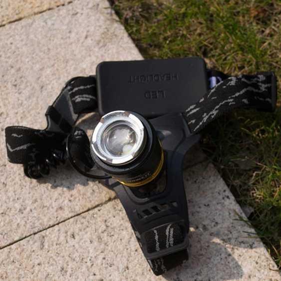頭燈 碩森led超亮充電式頭戴T6手電筒疝氣夜釣魚鋰電強光變焦礦燈 - 全館85折鉅惠~滿299免運 秋冬特惠上新~