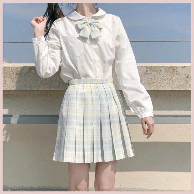 水手服上衣 日系jk襯衫長袖女學院風娃娃領初白無本上衣-Ballet朵朵 秋冬特惠上新~