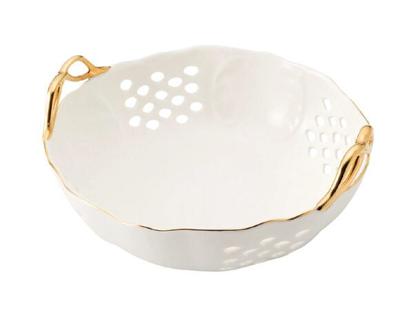 日本三鄉陶器Miss Princess公主籐籃陶瓷盤禮盒267080海渡