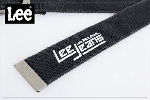 Lee 街頭風格 素面亮色雙扣環針織帶~男款 黑